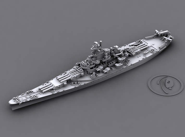 1/4000 US BB South Dakota Class [1942] 3d printed BB57 South Dakota [1942]