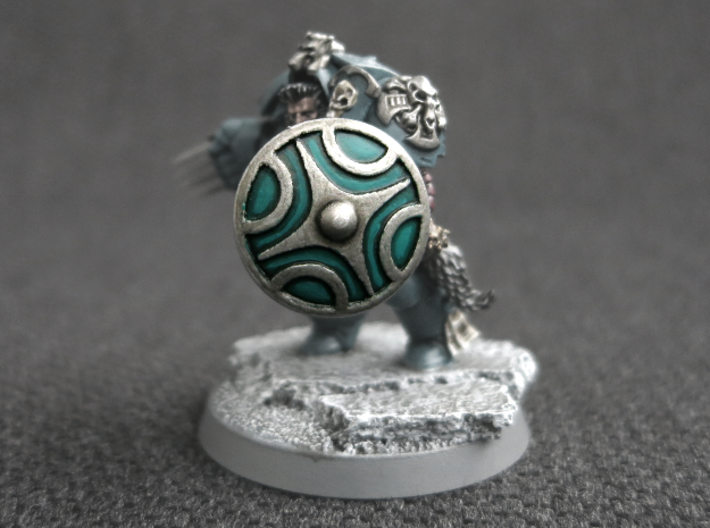 Miniature Shield 1 3d printed Model not supplied painted