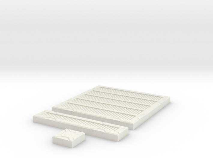 SciFi Tile 17 - Metal Grating 3d printed