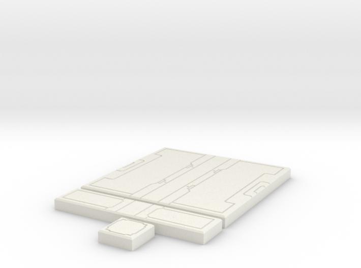 SciFi Tile 20 - Starship Corridor 3d printed