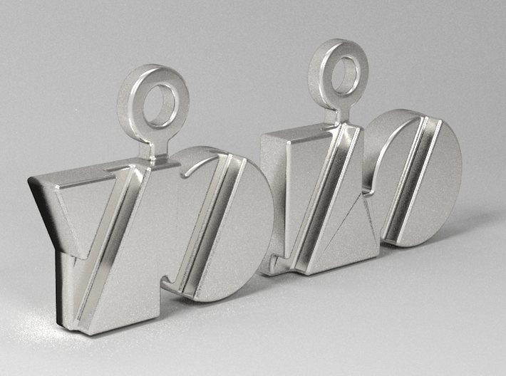 Yolo Earrings 3d printed Rendering