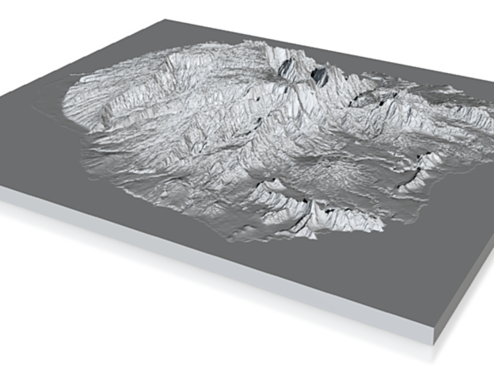 Model of Kaua?i 3d printed