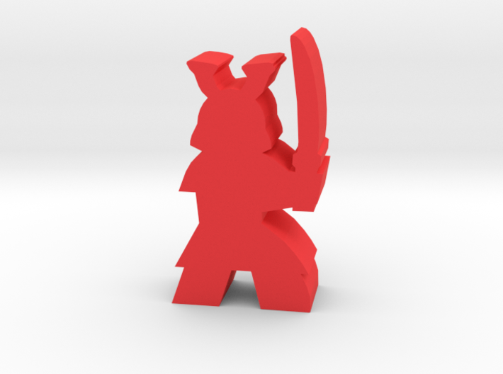 Game Piece, Samurai, with sword ready 3d printed