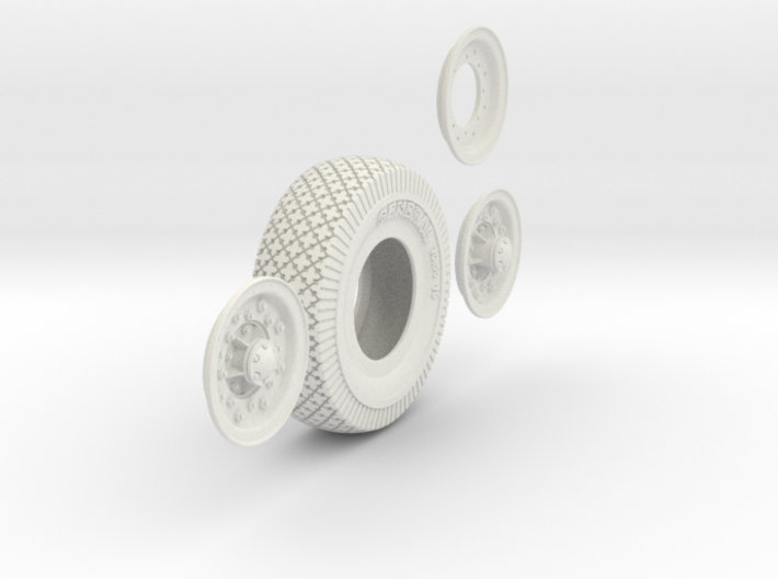 1-6 Chevy LRDG Tire And Rims 3d printed