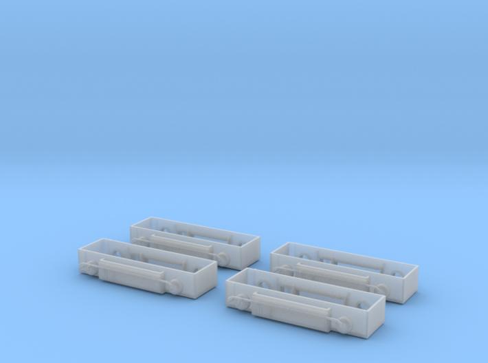 Baldwin RT-624 Fule Tanks X4 N Scale 1:160 3d printed