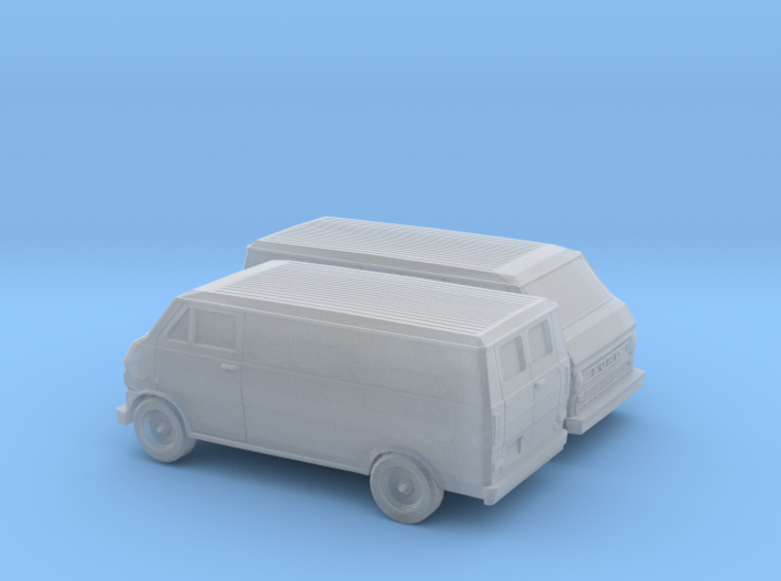 1/160 2X 1972-74 Ford Econoline Delivery Van 3d printed
