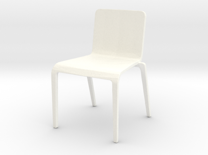 Plastic Stacking Chair 1-32 Scale 3d printed