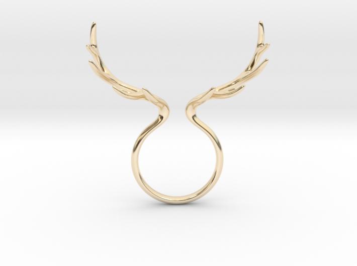 Antler Ring No.1 3d printed