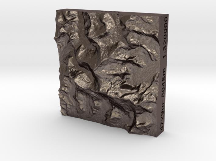 2''/5cm Mt. Everest, China/Nepal, Steel 3d printed