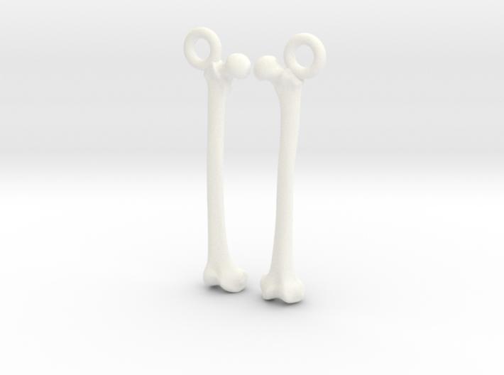 Bone Earrings 3d printed