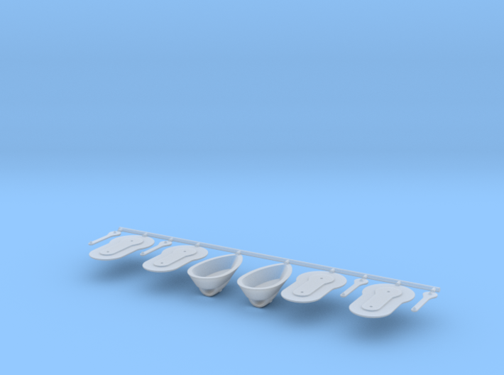 Scale Bell230 Handle And Nav Light S Size 3d printed