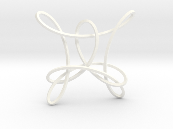 Clover Knot Pendant 3d printed