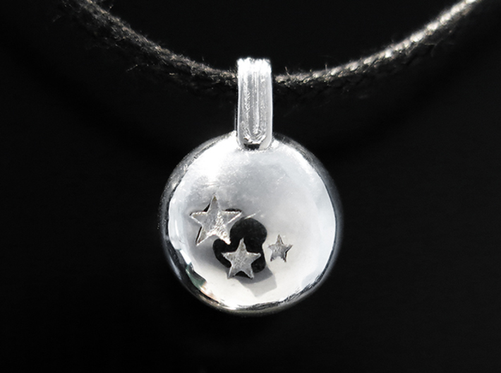 Stars 3d printed Rhodium Plated