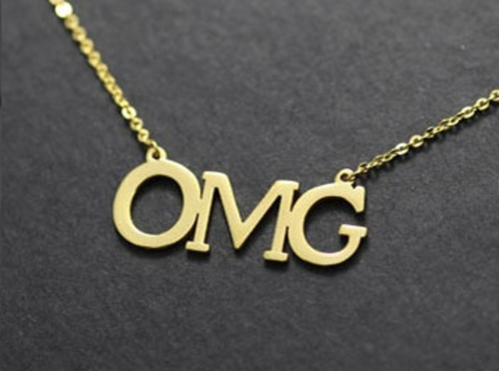 OMG Necklace 3d printed
