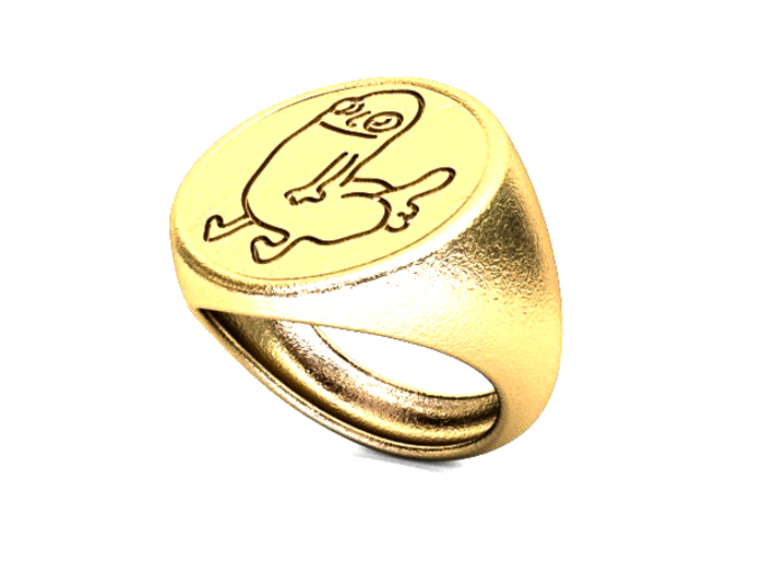 Dickbutt Ring Size 10 For Printing 3d printed