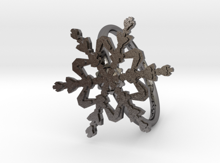 Snowflake Ring 2 d=19mm h21d19 3d printed