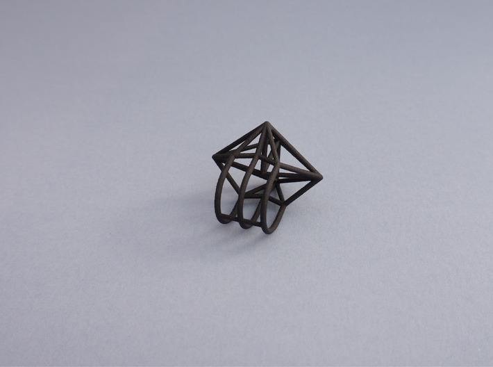 Space Ring: Triangle 3d printed