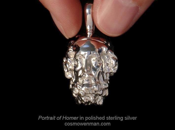 Portrait of the Blind Homer, pendant 3d printed