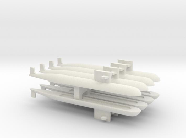 PLA[N] 093 Submarine x 8, 1/2400 3d printed