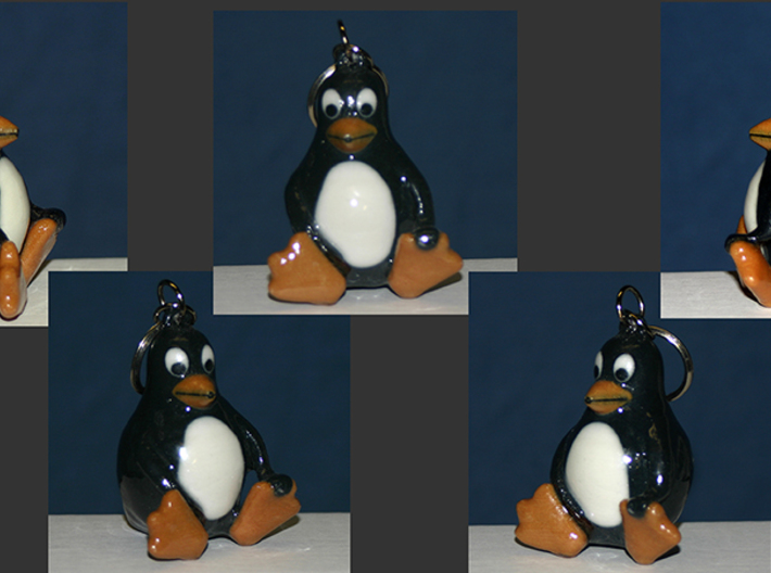 Penguin Keychain 3d printed