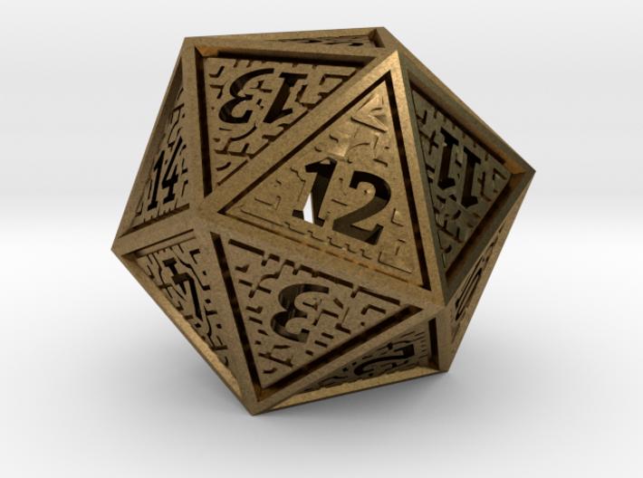 Hedron D20 SPINDOWN (Hollow), balanced die 3d printed