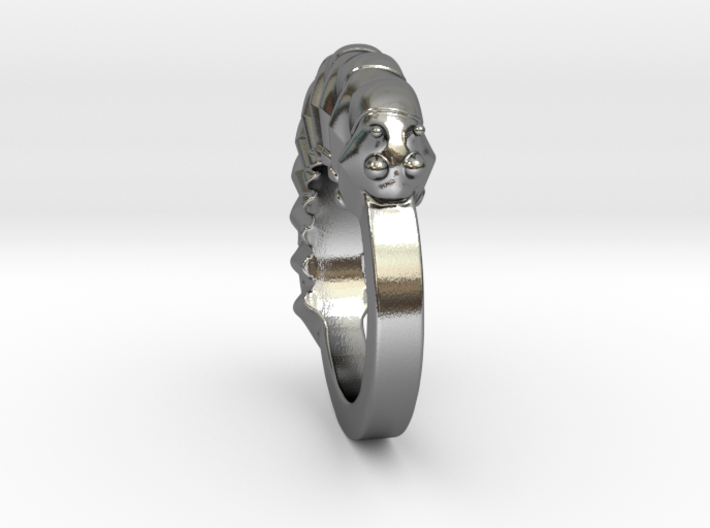 Caterpillar Ring - US Size 9 3d printed