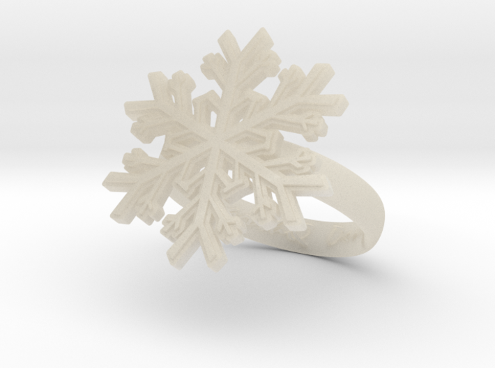 Snowflake Ring 1 d=17.5mm h35d175 3d printed