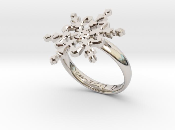 Snowflake Ring 2 d=18.5mm h35d185 3d printed