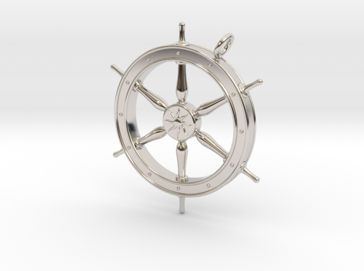 Ship's Wheel Pendant 3d printed