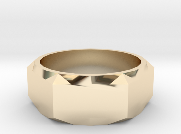 Bolt Ring (Size 6) 3d printed