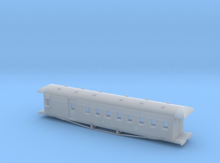 Nz120 Nzr 47-1/2 Ft Passenger/Guards Car 3d printed