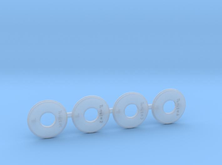 1/700 Pensacola Base Rings 3d printed