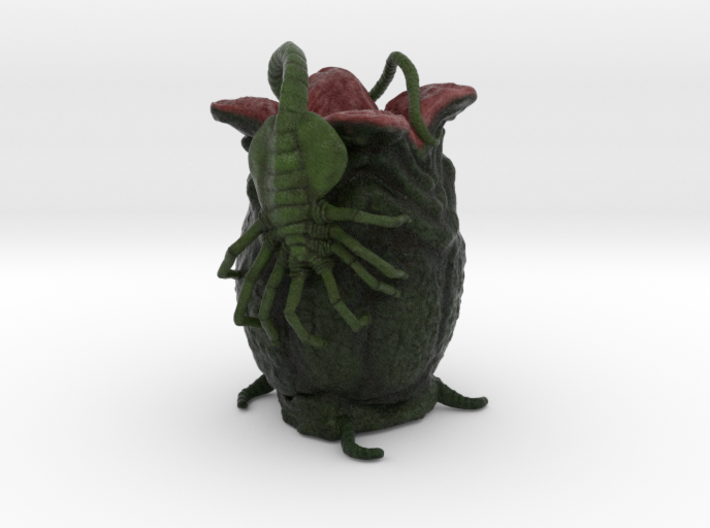 Alien Egg & Facehugger 3d printed Alien Egg & Facehugger