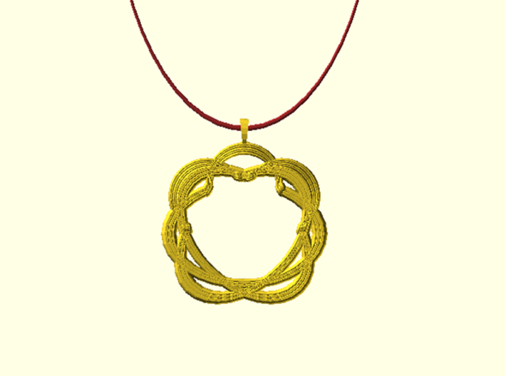 Original Shape Pendant 3d printed Digital image. Not for sell !