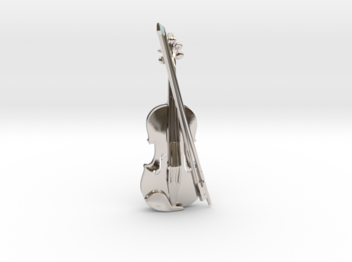 Violin and Bow Pendant 3d printed