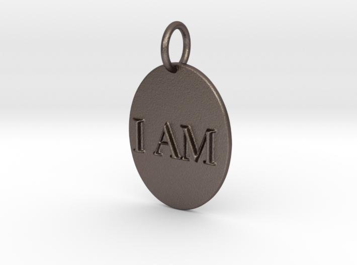 I AM Mirror Pendant 3d printed