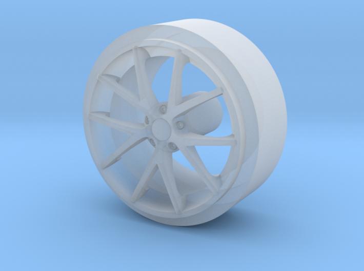 Front Corvette Spyder Wheel 3d printed