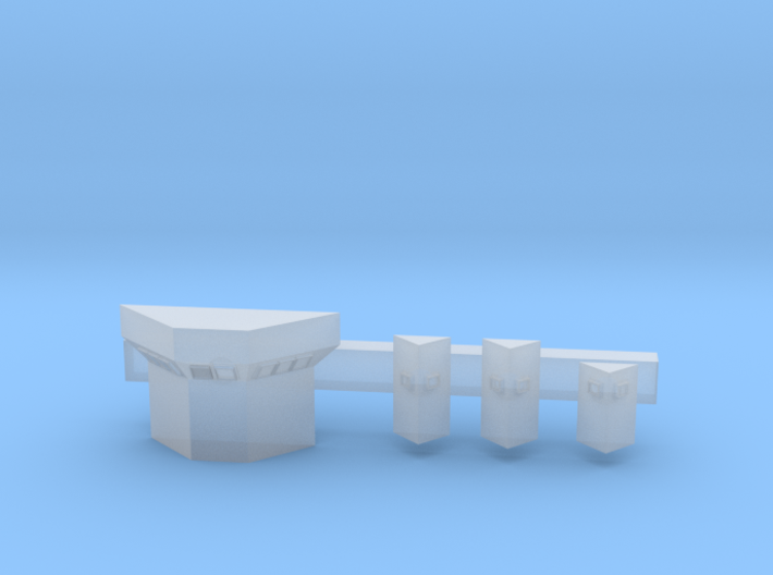 1:350 Scale USS Enterprise CONFLAG Stations 3d printed