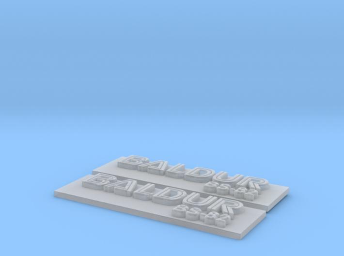 Baldur Nameplate Package 3d printed