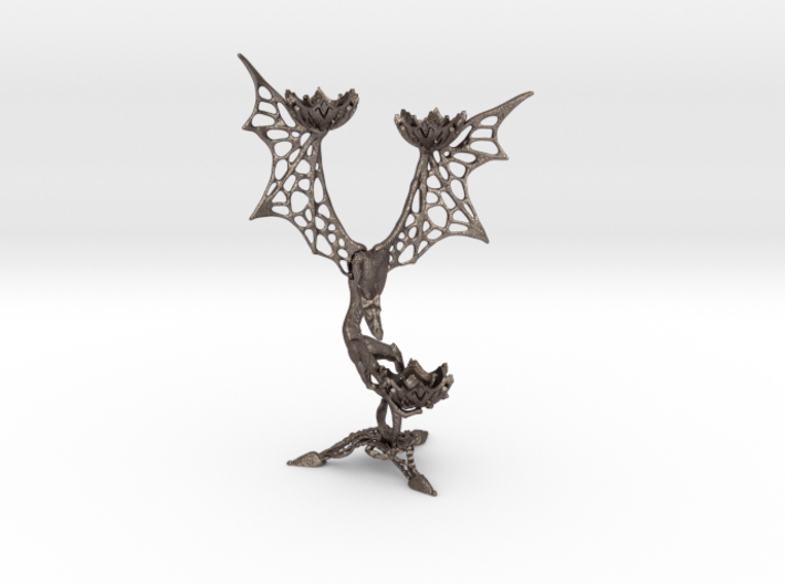 LUX DRACONIS 001  3d printed 3D printed candle holder LUX DRACONIS 001 in steel