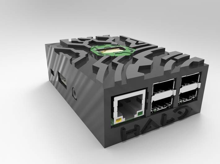 Raspberry Pi case top part Halo Style 3d printed