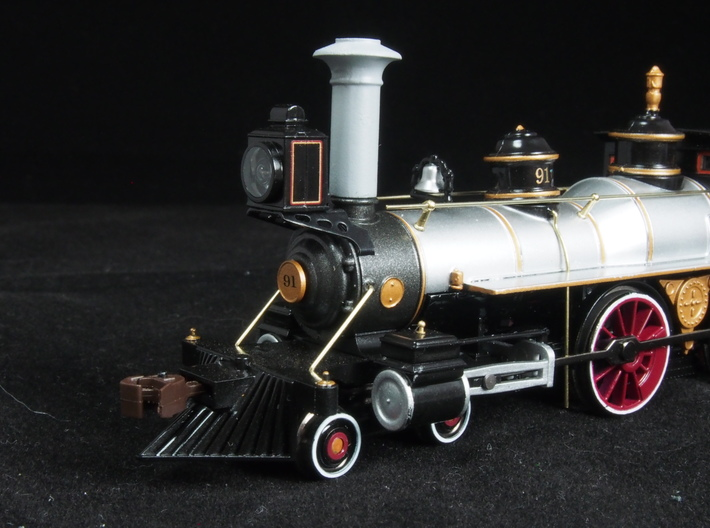 HO scale old time locomotive smokestack set 3 3d printed