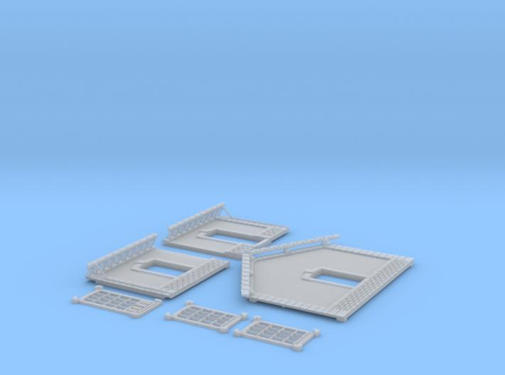 NGPLM45 Modular PLM train station 3d printed