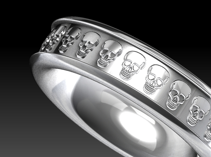 Skull Ring 3d printed Rendered look of the ring.