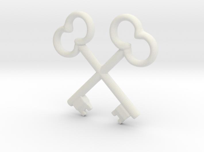 Wes Anderson Society of Crossed Keys 3d printed