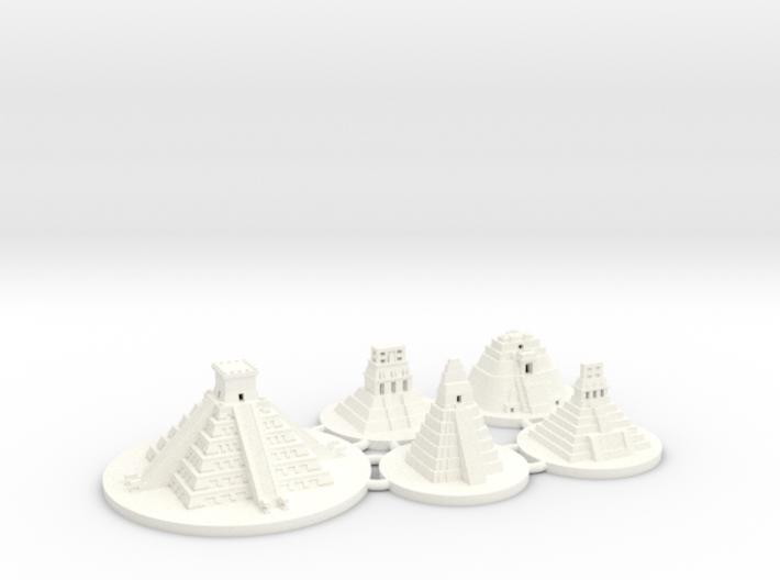 Mayan Pyramids (5 pcs) 3d printed