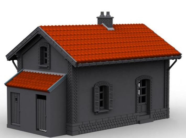 NBV10 barrier guard house 3d printed