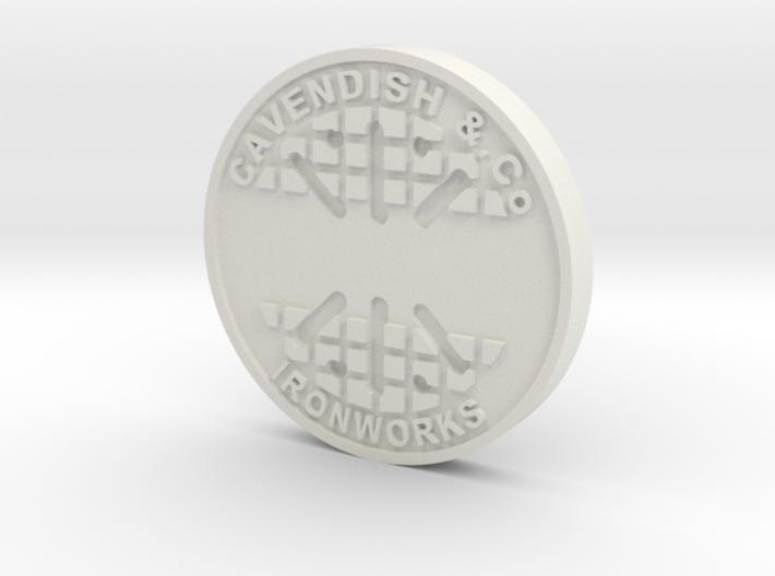 28mm/32mm Custom 'Cavendish' Manhole Cover 3d printed
