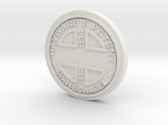 28mm/32mm Custom 'Whitechapel' Manhole Cover 3d printed