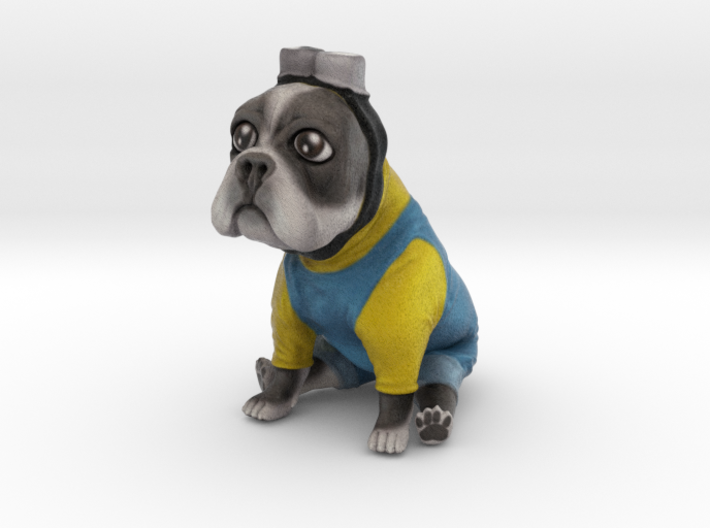 Minion Frenchie (Grey) 3d printed